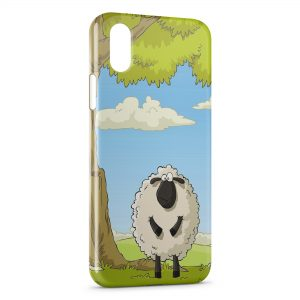Coque iPhone X & XS Mouton Cartoon