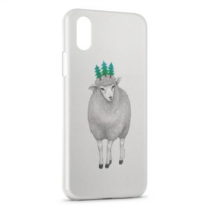 Coque iPhone X & XS Mouton Style Design