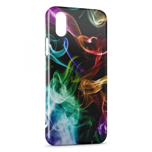 Coque iPhone X & XS Multicolor Smoke