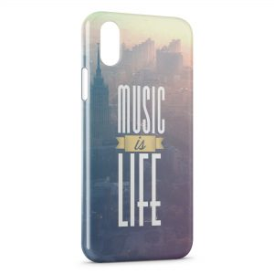 Coque iPhone X & XS Music is Life 2