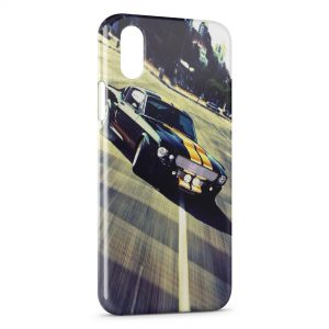Coque iPhone X & XS Mustang Design voiture
