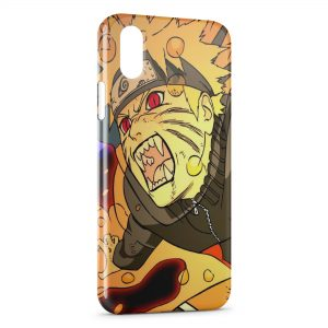 Coque iPhone X & XS Naruto Uzumaki Art Design