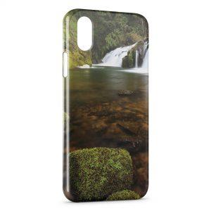 Coque iPhone X & XS Nature Chutes d'eau