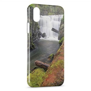 Coque iPhone X & XS Nature Chutes d'eau 2