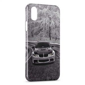 Coque iPhone X & XS Neige & BMW voiture