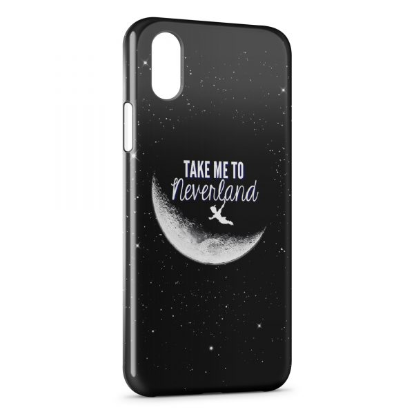Coque iPhone X & XS NeverLand Peter Pan