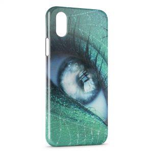 Coque iPhone X & XS Oeil Vert