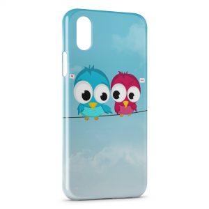 Coque iPhone X & XS Oiseaux