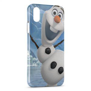 Coque iPhone X & XS Olaf Reine des neiges bonhomme de neige