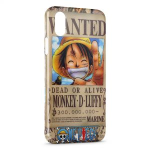 Coque iPhone X & XS One Piece Manga 22 Wanted