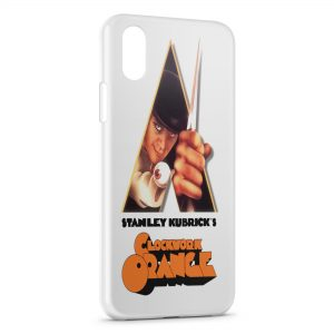 Coque iPhone X & XS Orange Mecanique