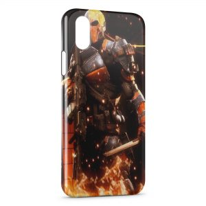 Coque iPhone X & XS Orange Soldier