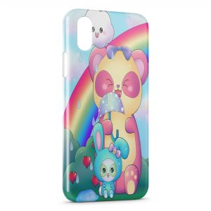 Coque iPhone X & XS Ourson et lapin
