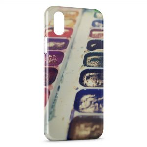 Coque iPhone X & XS Paint Palette couleurs