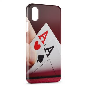 Coque iPhone X & XS Paire d'AS Poker