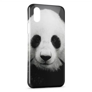 Coque iPhone X & XS Panda Black White 3