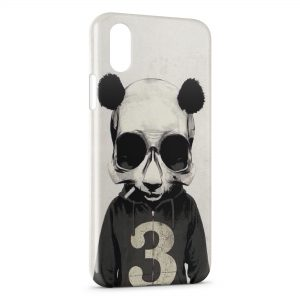 Coque iPhone X & XS Panda Style Design Sweat