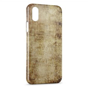 Coque iPhone X & XS Papier Vintage