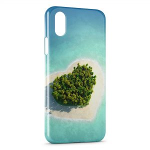 Coque iPhone X & XS Paradise coeur