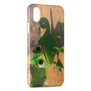 Coque iPhone X & XS Pascal Caméléon Raiponce Green