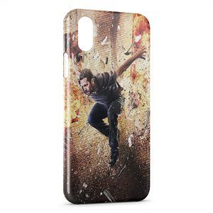 Coque iPhone X & XS Paul Walker Saut Fire