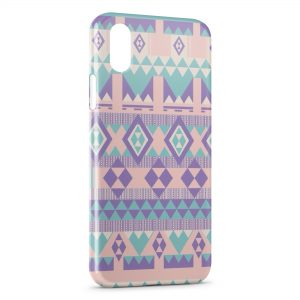 Coque iPhone X & XS Peaceful Style Aztec