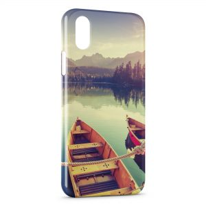 Coque iPhone X & XS Peaceful boat