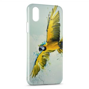 Coque iPhone X & XS Perroquet Yellow