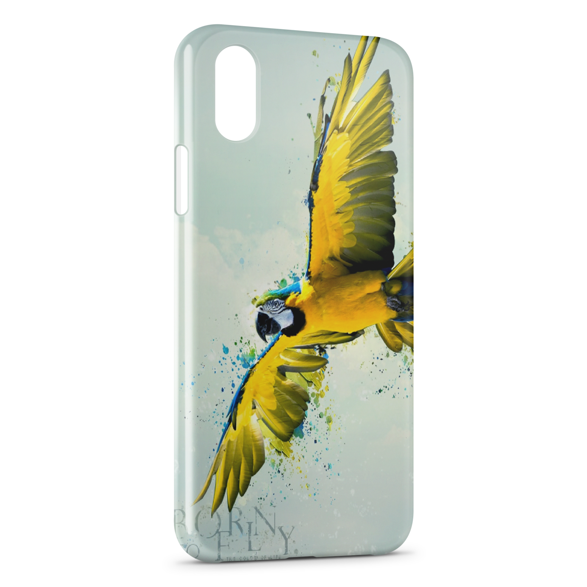 coque iphone x yellow