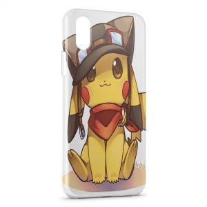 Coque iPhone X & XS Pikachu Aviateur Pokemon Cute