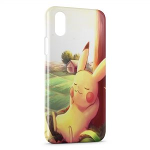 Coque iPhone X & XS Pikachu Keep Calm Pokemon