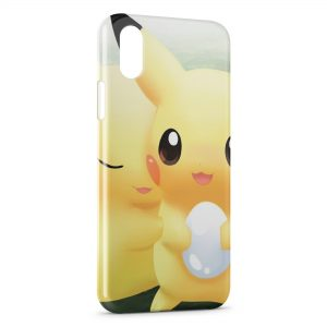 Coque iPhone X & XS Pikachu Pokemon Graphic Love