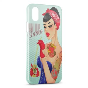 Coque iPhone X & XS Pin Up Blanche Neige et les 7 Nains