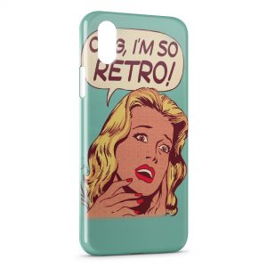 Coque iPhone X & XS Pin up OMG Im so Retro