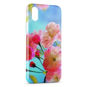 Coque iPhone X & XS Pink Flowers 2