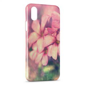 Coque iPhone X & XS Pink Flowers 3