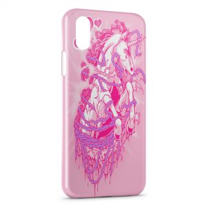 Coque iPhone X & XS Pink Licorne