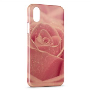 Coque iPhone X & XS Pink Rose