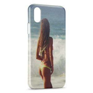Coque iPhone X & XS Plage & Bikini