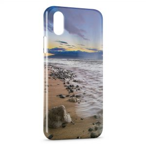 Coque iPhone X & XS Plage Paysage