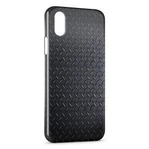 Coque iPhone X & XS Plaque d'acier