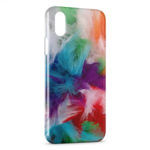 Coque iPhone X & XS Plumes color