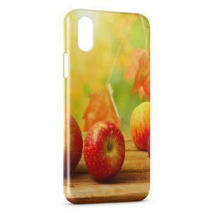 Coque iPhone X & XS Pommes en automne