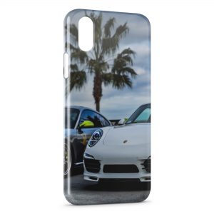 Coque iPhone X & XS Porsche et Palmier