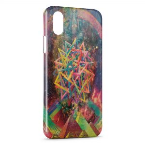 Coque iPhone X & XS Psychedelic Style