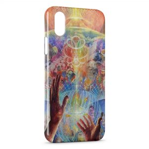 Coque iPhone X & XS Psychedelic Style 3