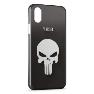 Coque iPhone X & XS Punisher Logo