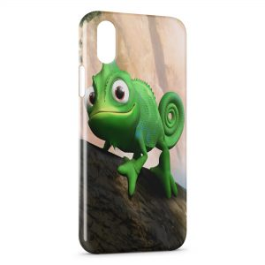 Coque iPhone X & XS Raiponce Pascal Cameleon 7