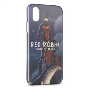 Coque iPhone X & XS Red Robin Timothy Drake
