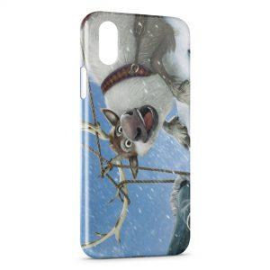 Coque iPhone X & XS Reine des neiges elan cerf